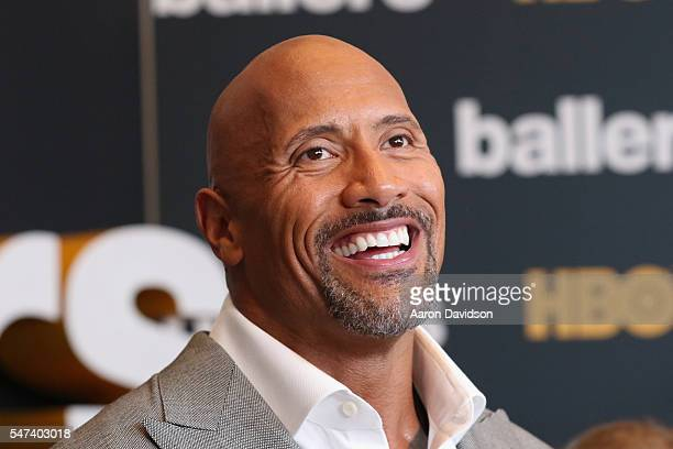 Dwayne Johnson attends the HBO 'Ballers' Season 2 Red Carpet Premiere and Reception on July 14 2016 at New World Symphony in Miami Beach Florida