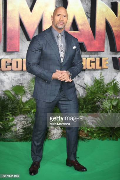 Dwayne Johnson attends the 'Jumanji Welcome To The Jungle UK premiere held at Vue West End on December 7 2017 in London England