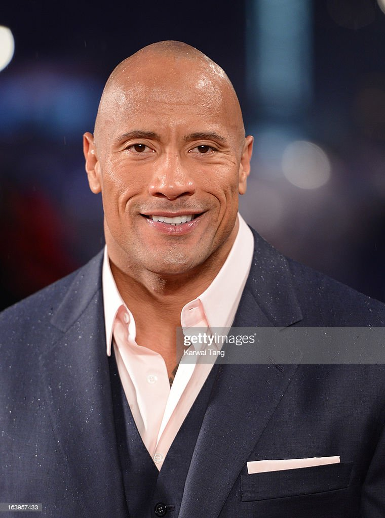 Dwayne Johnson attends the UK premiere of 'G.I. Joe: Retaliation' at Empire Leicester Square on March 18, 2013 in London, England.