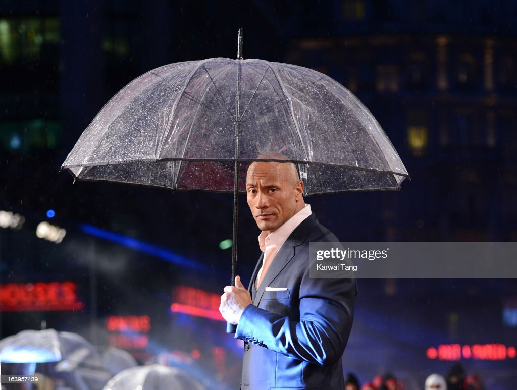 <a gi-track='captionPersonalityLinkClicked' href=/galleries/search?phrase=Dwayne+Johnson&family=editorial&specificpeople=210704 ng-click='$event.stopPropagation()'>Dwayne Johnson</a> attends the UK premiere of 'G.I. Joe: Retaliation' at Empire Leicester Square on March 18, 2013 in London, England.