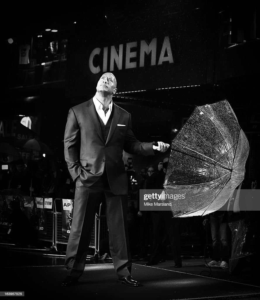 <a gi-track='captionPersonalityLinkClicked' href=/galleries/search?phrase=Dwayne+Johnson&family=editorial&specificpeople=210704 ng-click='$event.stopPropagation()'>Dwayne Johnson</a> attends the UK Premiere of G.I. Joe: Retaliation at Empire Leicester Square on March 18, 2013 in London, England.