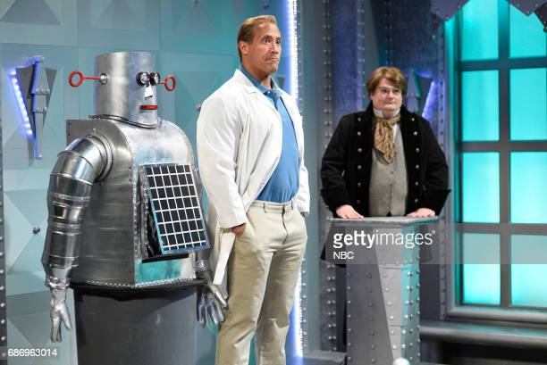 LIVE 'Dwayne Johnson' Episode 1725 Pictured Dwayne Johnson as Roy Bobby Moynihan during 'Worlds Most Evil Invention' in Studio 8H on May 20 2017