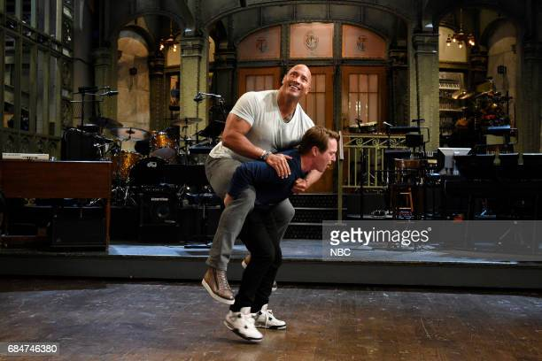 LIVE 'Dwayne Johnson' Episode 1725 Pictured Dwayne Johnson with Beck Bennett in Studio 8H on May 16 2017