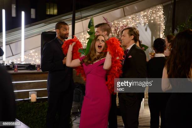LIVE 'Dwayne Johnson' Episode 1725 Pictured Vanessa Bayer Alex Moffat in 'Cartier Ad' on May 20 2017