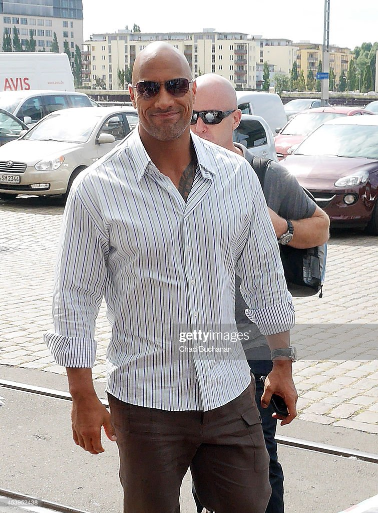 <a gi-track='captionPersonalityLinkClicked' href=/galleries/search?phrase=Dwayne+Johnson&family=editorial&specificpeople=210704 ng-click='$event.stopPropagation()'>Dwayne Johnson</a> sighted at Sat1 television studio on August 22, 2014 in Berlin, Germany.
