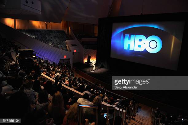 Dwayne Johnson speaks during the HBO Ballers Season 2 Red Carpet Premiere and Reception on July 14 2016 at New World Symphony in Miami Beach Florida