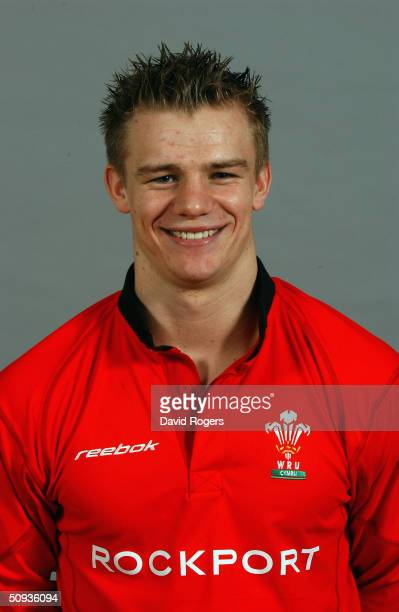 Dwayne Peel of Wales Rugby Union pictured at the Vale of Glamorgan Hotel Cardiff Wales on February 28 2003