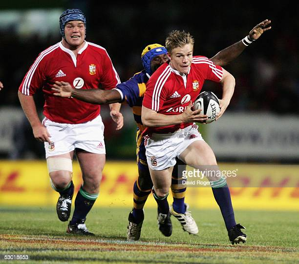 Dwayne Peel the Lions scrumhalf charges forward during the match between the British and Irish Lions and the Bay of Plenty at The Rotorua...
