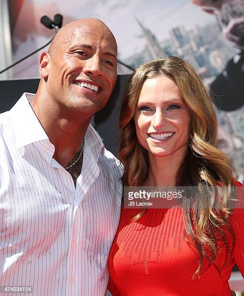Dwayne 'The Rock' Johnson and girlfriend Lauren Hashian attend the hand/footprint ceremony honoring him held at TCL Chinese Theatre IMAX on May 19...