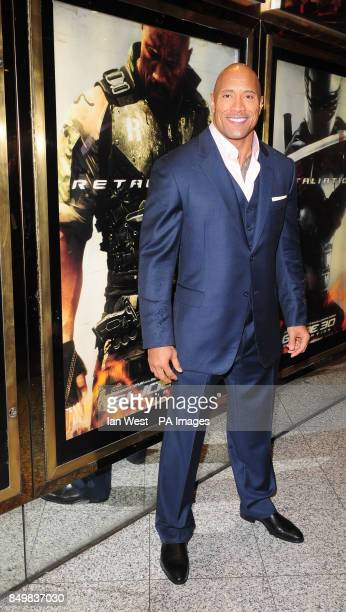 Dwayne 'The Rock' Johnson arrives for the UK premiere of GI Joe Retaliation at the Empire Cinema in London