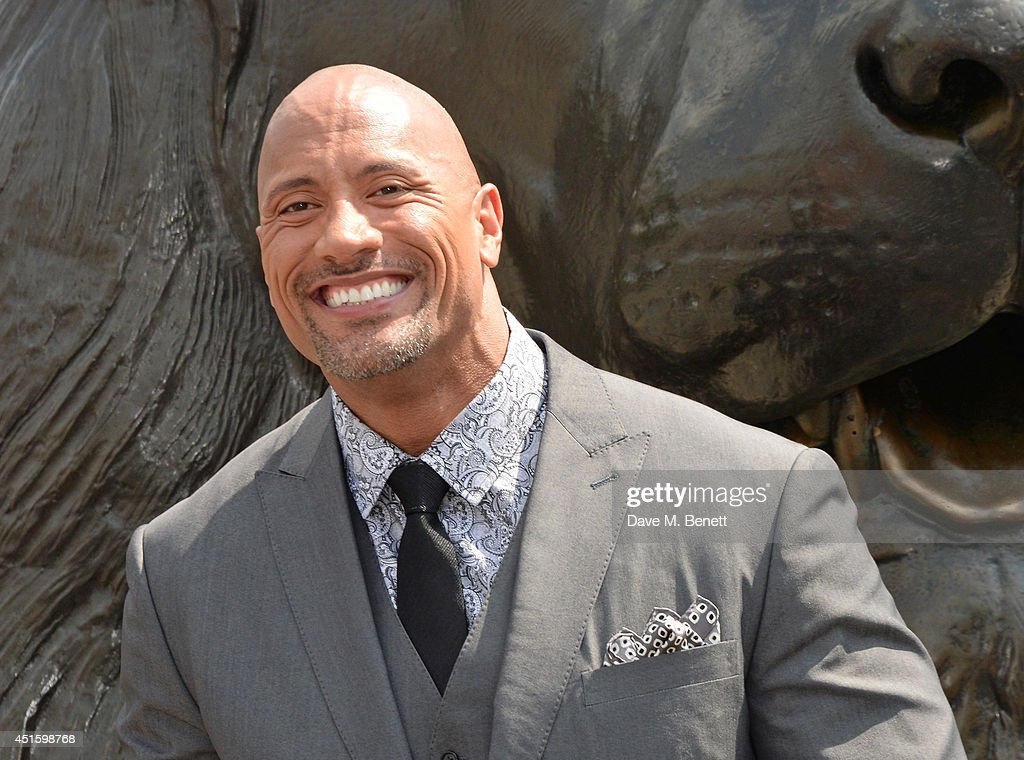 Dwayne 'The Rock' Johnson attends a photocall for 'Hercules' at Nelson's Column in Trafalgar Square on July 2, 2014 in London, England.