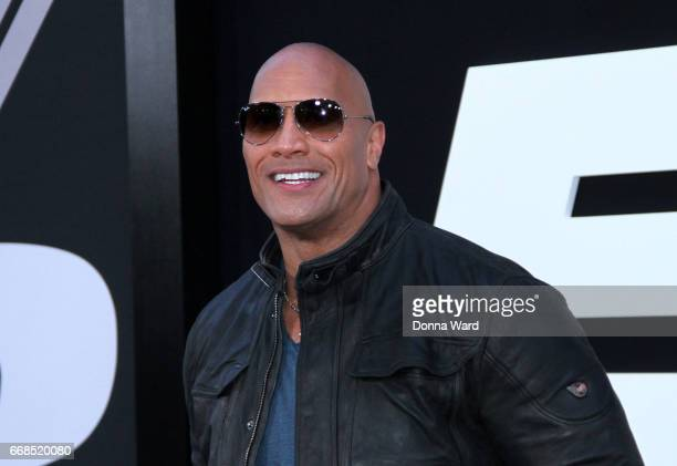 Dwayne 'The Rock' Johnson attends 'The Fate of The Furious' New York Premiere at Radio City Music Hall on April 8 2017 in New York City