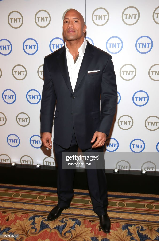 Dwayne 'The Rock' Johnson, Host of 'The Hero', attends Turner Broadcasting's 2013 TCA Winter Tour at Langham Hotel on January 4, 2013 in Pasadena, California. 23128_001_CP_0419.JPG