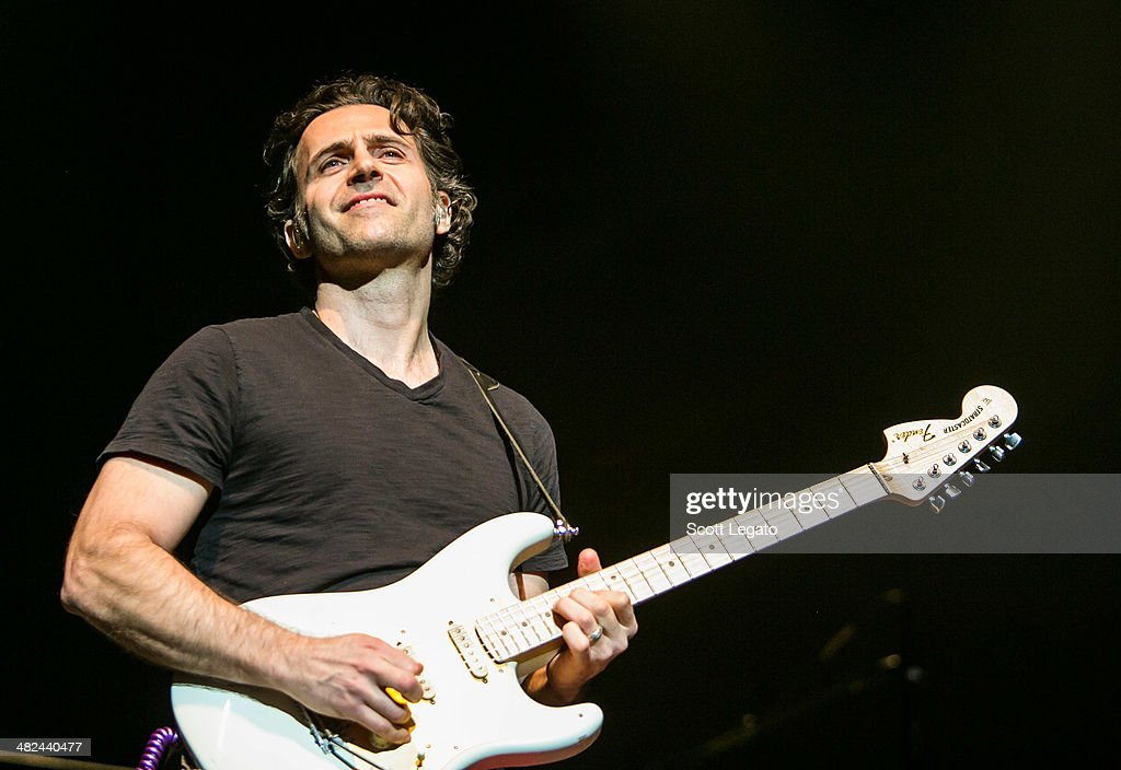 <a gi-track='captionPersonalityLinkClicked' href=/galleries/search?phrase=Dweezil+Zappa&family=editorial&specificpeople=1106695 ng-click='$event.stopPropagation()'>Dweezil Zappa</a> performs during the Experience Hendrix 2014 Tour at The Fox Theatre on April 3, 2014 in Detroit, Michigan.