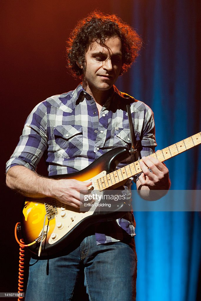 <a gi-track='captionPersonalityLinkClicked' href=/galleries/search?phrase=Dweezil+Zappa&family=editorial&specificpeople=1106695 ng-click='$event.stopPropagation()'>Dweezil Zappa</a> performs during the Experience Hendrix Tour at the Tennessee Performing Arts Center on March 9, 2012 in Nashville, Tennessee.