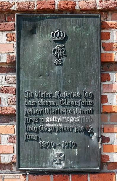 DWesel Rhine Lower Rhine Rhineland North RhineWestphalia NRW fortress city garrison town Citadel Wesel Prussia Prussian fortress commemorative tablet...