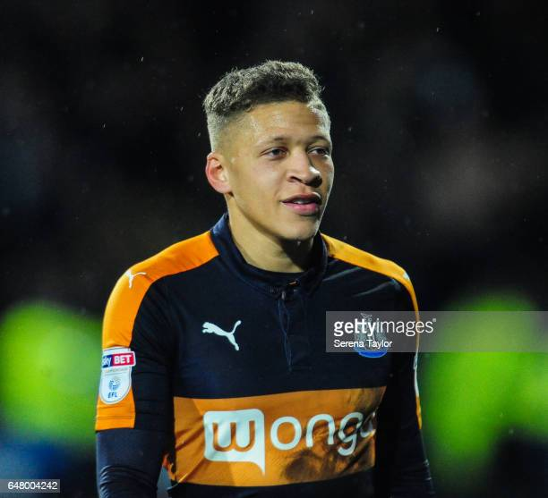 Dwight Gale of Newcastle United walks off the pitch after Newcastle win the Sky Bet Championship Match between Huddersfield Town and Newcastle United...