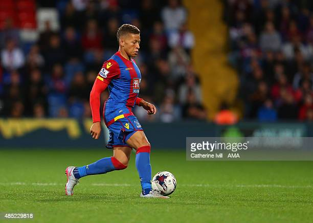 Dwight Gayle of Crystal Palace during the Capital One Cup match between Crystal Palace and Shrewsbury Town at Selhurst Park on August 25 2015 in...