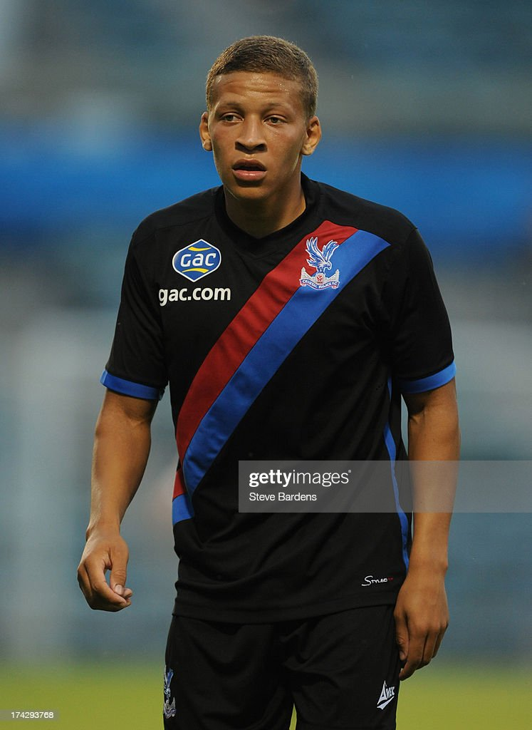Dwight Gayle of Crystal Palace during the pre season friendly match between Gillingham and Crystal Palace at Priestfield Stadium on July 23, 2013 in Gillingham, Medway.