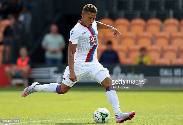Dwight Gayle of Crystal Palace in action during a Pre Season Friendly between Barnet and Crystal Palace at The Hive on July 11 2015 in Barnet England