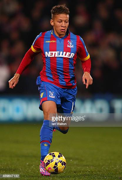 Dwight Gayle of Crystal Palace in action during the Barclays Premier League match between Crystal Palace and Aston Villa at Selhurst Park on December...
