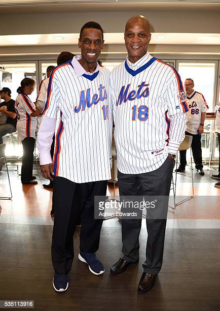 Dwight Gooden and Darryl Strawberry at the 1986 Mets 30th Anniversary Reunion Celebration held at Citi Field on May 28 2016 in New York City