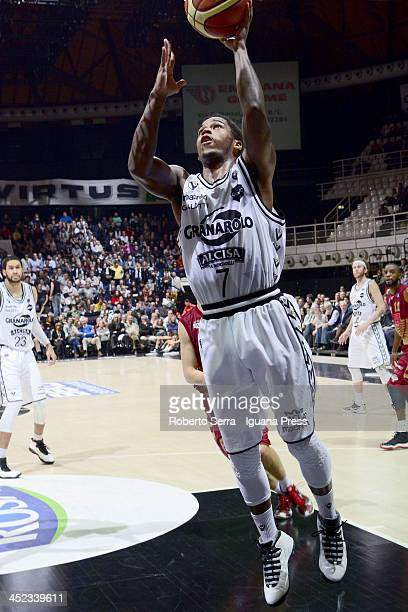 Dwight Hardy of Granarolo in action during the LegaBasket Serie A match between Granarolo Bologna and Umana Venezia at Unipol Arena on November 24...