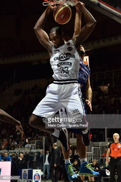 Dwight Hardy of Granarolo in action during the LegaBasket Serie A1 match between Granarolo Bologna and Vitasnella Cantu at Unipol Arena on January 12...