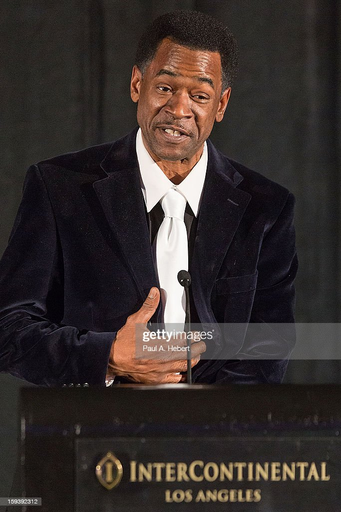 Dwight Henry receives the Best Supporting Actor award for 'Beasts of the Southern Wild' at the 38th Annual Los Angeles Film Critics Association Awards held at the InterContinental Hotel on January 12, 2013 in Century City, California.