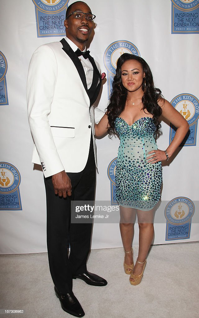 Dwight Howard and Cymphonique Miller attends the Let The Kids Grow 2012 Inaugral Holiday Gala held at the Beverly Wilshire Four Seasons Hotel on December 1, 2012 in Beverly Hills, California.