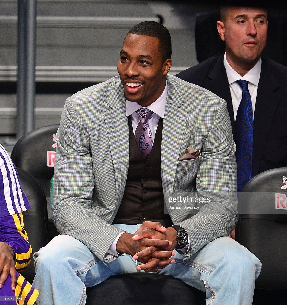Dwight Howard attends the Los Angeles Lakers vs Brooklyn Nets game at Barclays Center on February 5, 2013 in the Brooklyn borough of New York City.