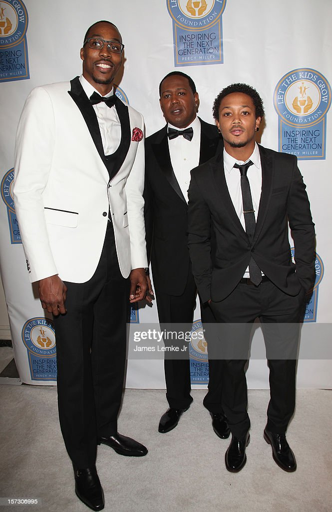 Dwight Howard, Master P and Romeo attend the Let The Kids Grow 2012 Inaugral Holiday Gala held at the Beverly Wilshire Four Seasons Hotel on December 1, 2012 in Beverly Hills, California.