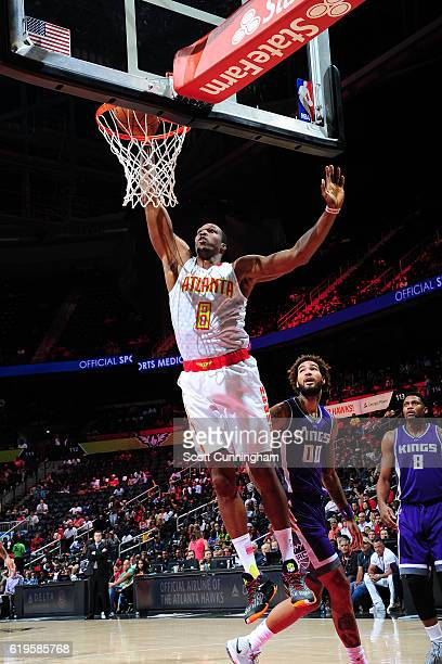 Dwight Howard of the Atlanta Hawks goes up for a dunk against the Sacramento Kings on October 31 2016 at Philips Arena in Atlanta Georgia NOTE TO...