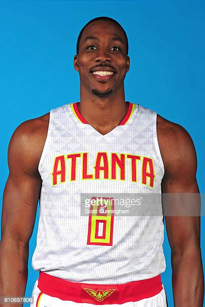 Dwight Howard of the Atlanta Hawks poses for a portrait during 20162017 Atlanta Hawks Media Day at Phillips Arena on September 26 2016 in Atlanta...