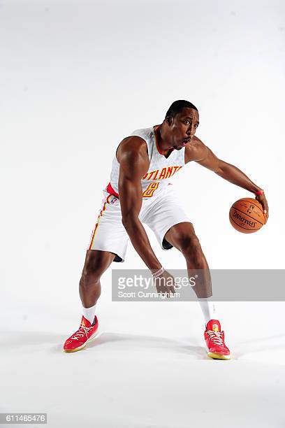 Dwight Howard of the Atlanta Hawks poses for a portrait during the 20162017 Atlanta Hawks Media Day on September 26 2016 at The W Hotel in Atlanta...