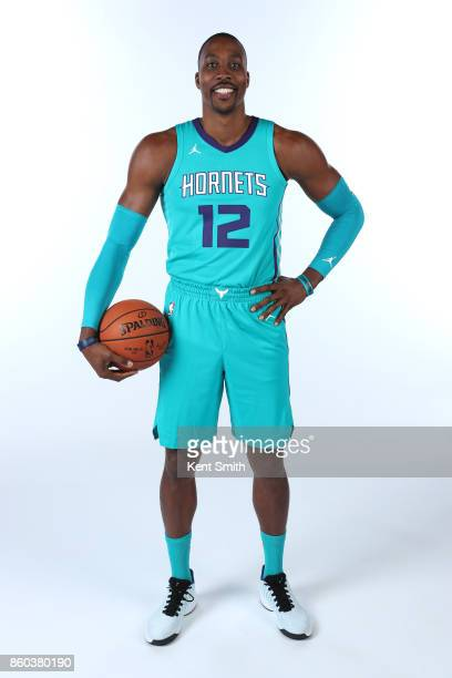 Dwight Howard of the Charlotte Hornets poses for a portrait during media day on September 25 2017 at Spectrum Center in Charlotte North Carolina NOTE...