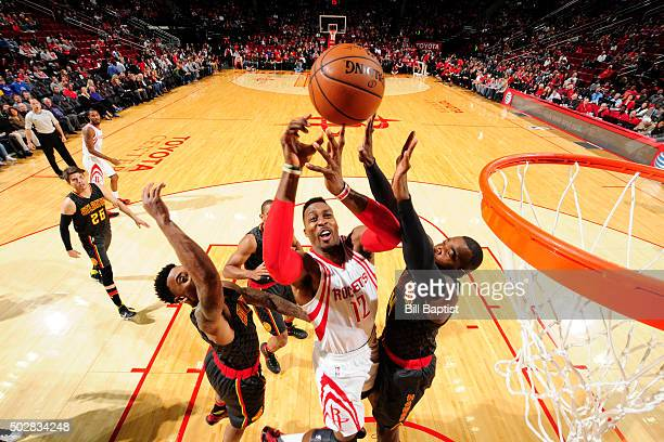 Dwight Howard of the Houston Rockets shoots the ball against the Atlanta Hawks on December 29 2015 at the Toyota Center in Houston Texas NOTE TO USER...
