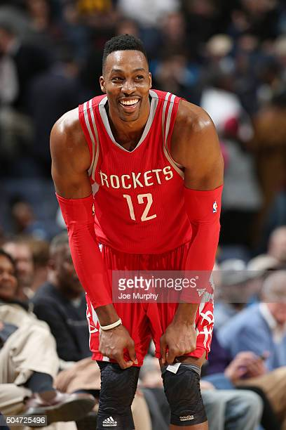 Dwight Howard of the Houston Rockets stands on the court during the game against the Memphis Grizzlies on January 12 2016 at FedExForum in Memphis...