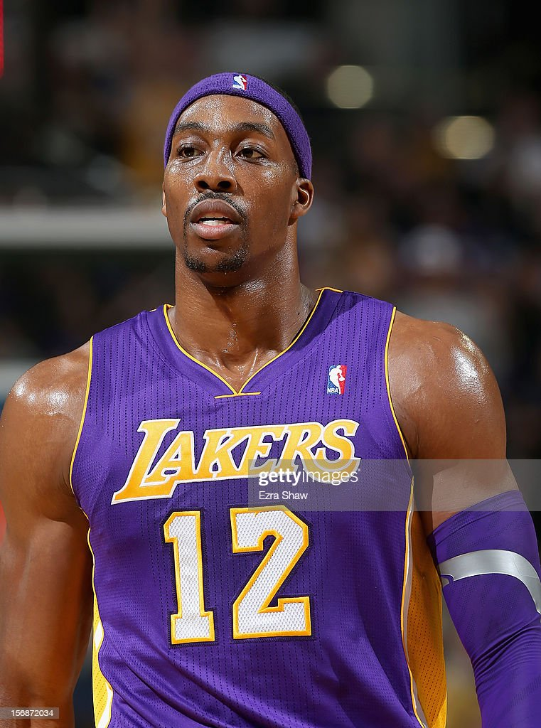 Dwight Howard #12 of the Los Angeles Lakers stands on the court during their game against the Sacramento Kings at Power Balance Pavilion on November 21, 2012 in Sacramento, California.