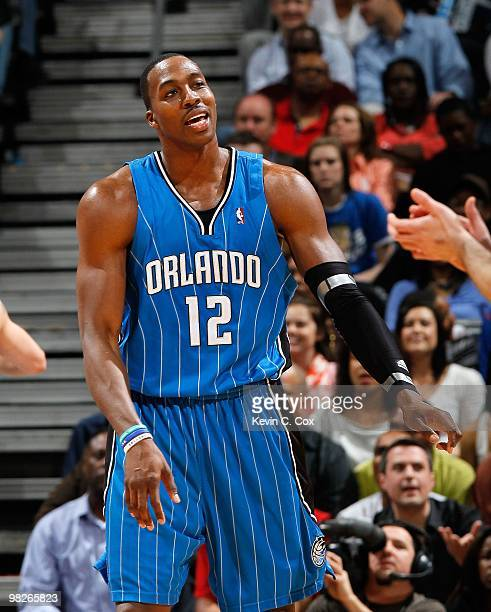 Dwight Howard of the Orlando Magic against the Atlanta Hawks at Philips Arena on March 24 2010 in Atlanta Georgia NOTE TO USER User expressly...
