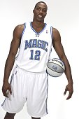 Dwight Howard of the Orlando Magic poses during NBA Media Day at the RDV Sportsplex September 28 2007 in Maitland Florida NOTE TO USER User expressly...
