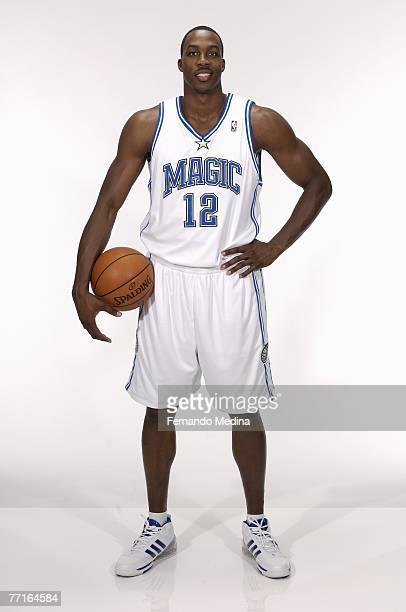 Dwight Howard of the Orlando Magic poses for a portrait during NBA Media Day at the RDV Sportsplex on September 28 2007 in Maitland Florida NOTE TO...