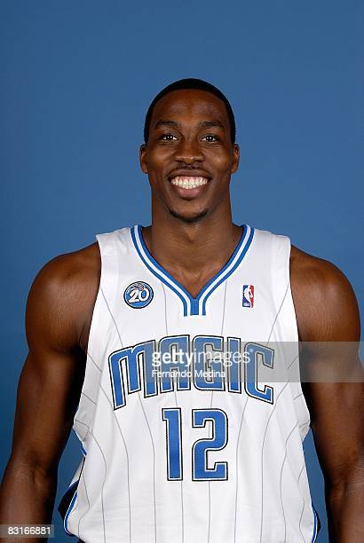 Dwight Howard of the Orlando Magic poses for a portrait on NBA Media Day on September 29 2008 at the RDV Sportsplex in Maitland Florida NOTE TO USER...