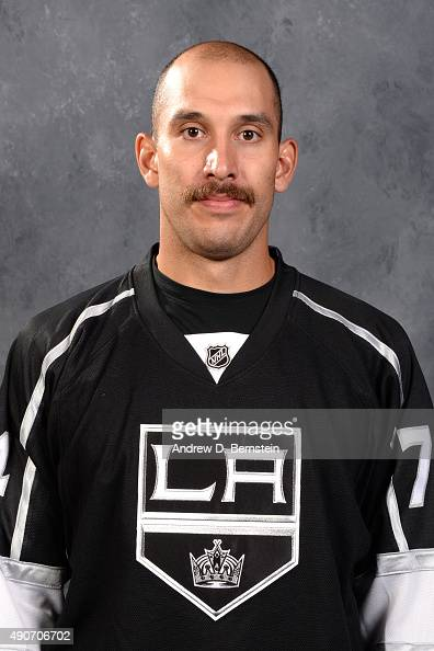 Dwight King of the Los Angeles Kings poses for his official headshot for the 20152016 season on September 17 2015 at the Toyota Sports Center in El...