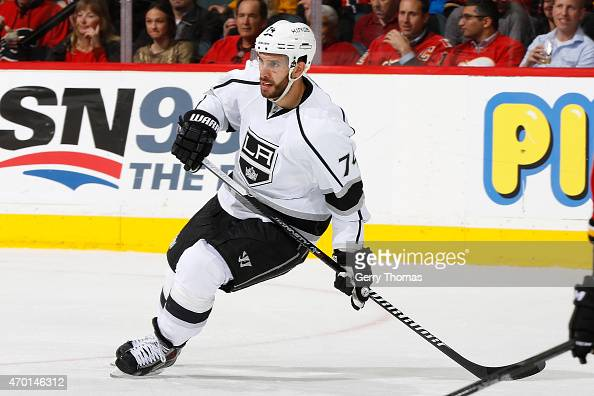 Dwight King of the Los Angeles Kings skates against the Calgary Flames at Scotiabank Saddledome on April 9 2015 in Calgary Alberta Canada