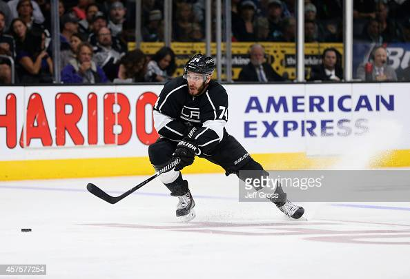 Dwight King of the Los Angeles Kings skates against the Edmonton Oilers at Staples Center on October 14 2014 in Los Angeles California