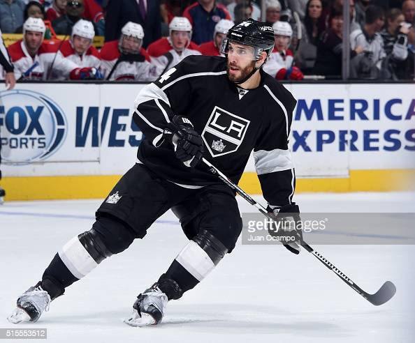 Dwight King of the Los Angeles Kings skates during the game against the Montreal Canadiens on March 3 2016 at Staples Center in Los Angeles California