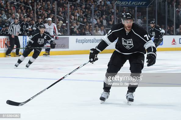 Dwight King of the Los Angeles Kings skates on ice during a game against the Washington Capitals at STAPLES Center on March 09 2016 in Los Angeles...