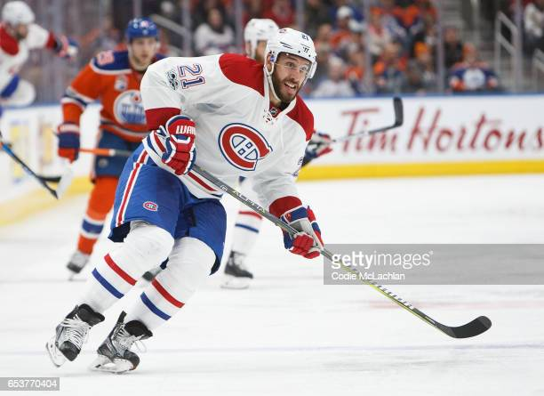 Dwight King of the Montreal Canadiens skates against the Edmonton Oilers on March 12 2017 at Rogers Place in Edmonton Alberta Canada