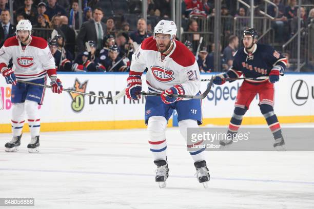 Dwight King of the Montreal Canadiens skates against the New York Rangers at Madison Square Garden on March 4 2017 in New York City